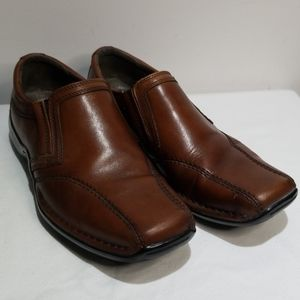 Clarks Brown Slip On Shoes
